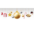 christmas hanging decorative on a white background vector image
