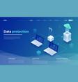 cloud data storage cloud computing technology vector image vector image