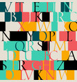 color pattern with a classic uneven font vector image