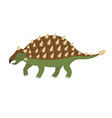 cute cartoon ankylosaurus vector image vector image