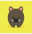 Cute Cartoon wild pig vector image vector image