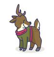 cute deer cartoon motif set vector image vector image