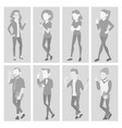 default placeholder avatar set profile vector image vector image