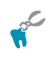 dental icon grey and blue on white background for vector image vector image