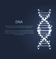 dna glittering icon deoxyribonucleic acid chain vector image
