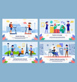 eduction in foreign country flat banner set vector image vector image