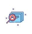 employee search concept icon vector image