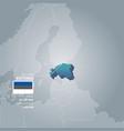 estonia information map vector image vector image