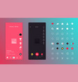 flat design app concept vector image vector image
