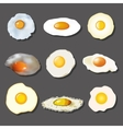 fried egg collection vector image