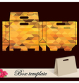 Gift box template vector image vector image