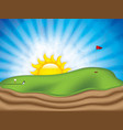 golf course vector image