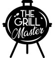 grill master on white background vector image vector image