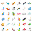 hobby icons set isometric style vector image vector image