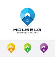 house locator logo design vector image