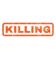 Killing Rubber Stamp vector image vector image