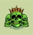 king skull green vector image
