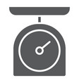 kitchen scale glyph icon kitchen and cooking vector image vector image