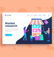 landing page template market research concept vector image