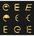 Letter E set vector image