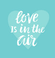 love is in the air valentines day card vector image vector image