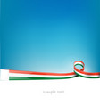 madagascar ribbon flag on blue sky background vector image vector image