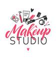 makeup studio logo of vector image