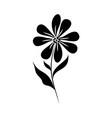 minimalist tattoo flower natural silhouette art vector image vector image