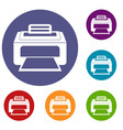 modern laser printer icons set vector image vector image