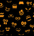 monsters halloween pattern 2 vector image
