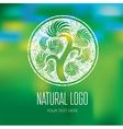 Natiral Logo 07 grunge vector image vector image