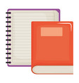 notebook school supply with textbook vector image vector image