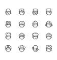 ocupation black icon set 1 on white background vector image