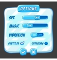 Option menu ice style game buttons vector image vector image