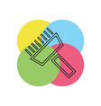 paint roll icon paint brush vector image