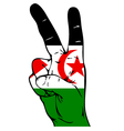 Peace Sign of the Western Sahara Flag vector image vector image