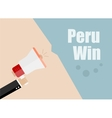 Peru win Flat design business vector image vector image