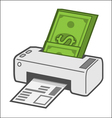 Printing costs vector image