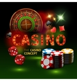 Realistic Casino Online Games Poster vector image