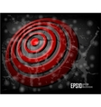 red abstract glowing background vector image vector image