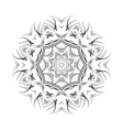 Round ornamental floral shape black vector image vector image