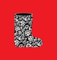 russian winter boots valenki khokhloma painting vector image vector image