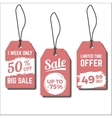 Sale tags with hand drawn ink vector image vector image