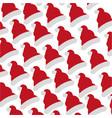 santa claus hat icon vector image vector image
