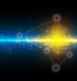 science technology background vector image vector image