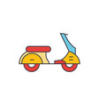 scooter line icon concept scooter flat vector image