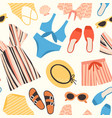 seamless pattern with summer clothes and vector image vector image