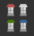 set of awnings on windows vector image