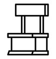 shop stand icon outline style vector image