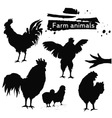 Silhouette birds family vector image vector image